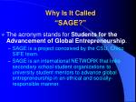 why is it called sage