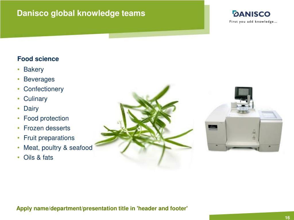Danisco global knowledge teams