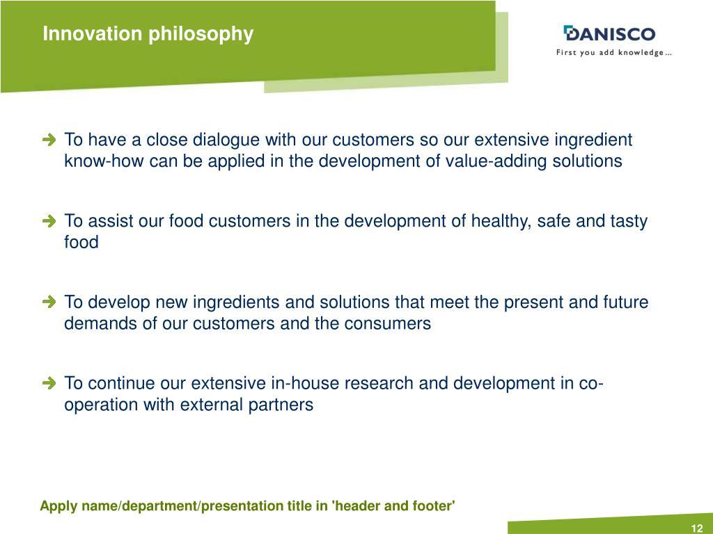 Innovation philosophy