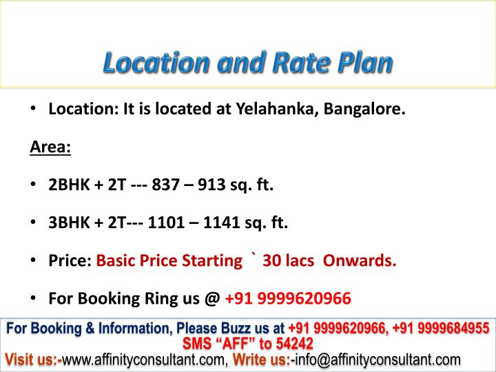 Location and Rate Plan