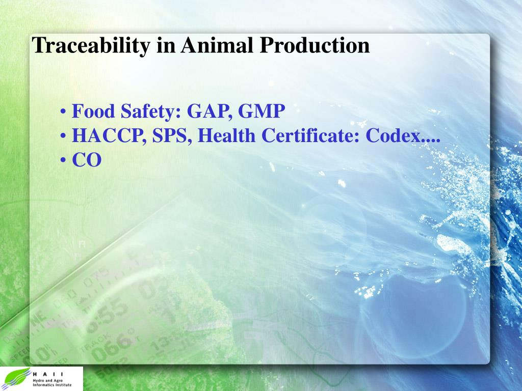 Traceability in Animal Production