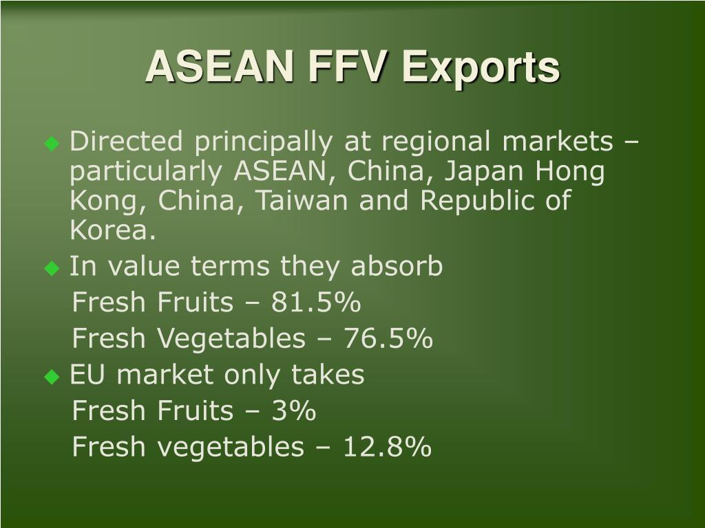 ASEAN FFV Exports