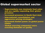 global supermarket sector
