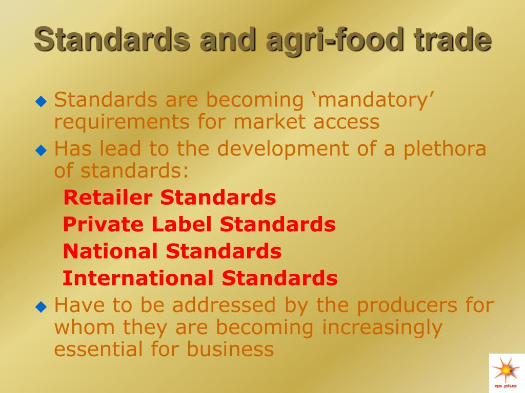 Standards and agri-food trade