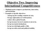 objective two improving international competitiveness