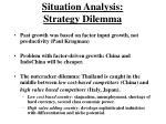 situation analysis strategy dilemma