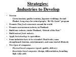 strategies industries to develop