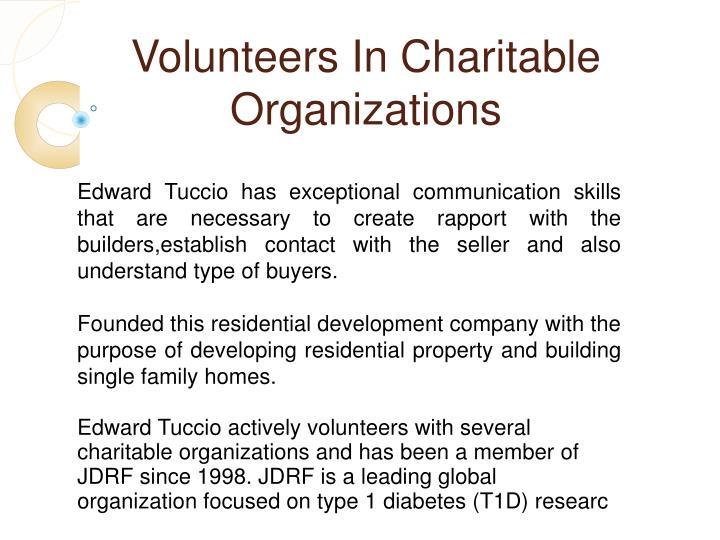 Volunteers In Charitable Organizations