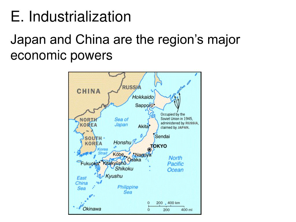 Japan and China are the region's major economic powers