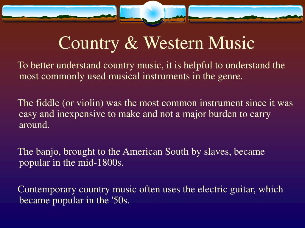Country & Western Music