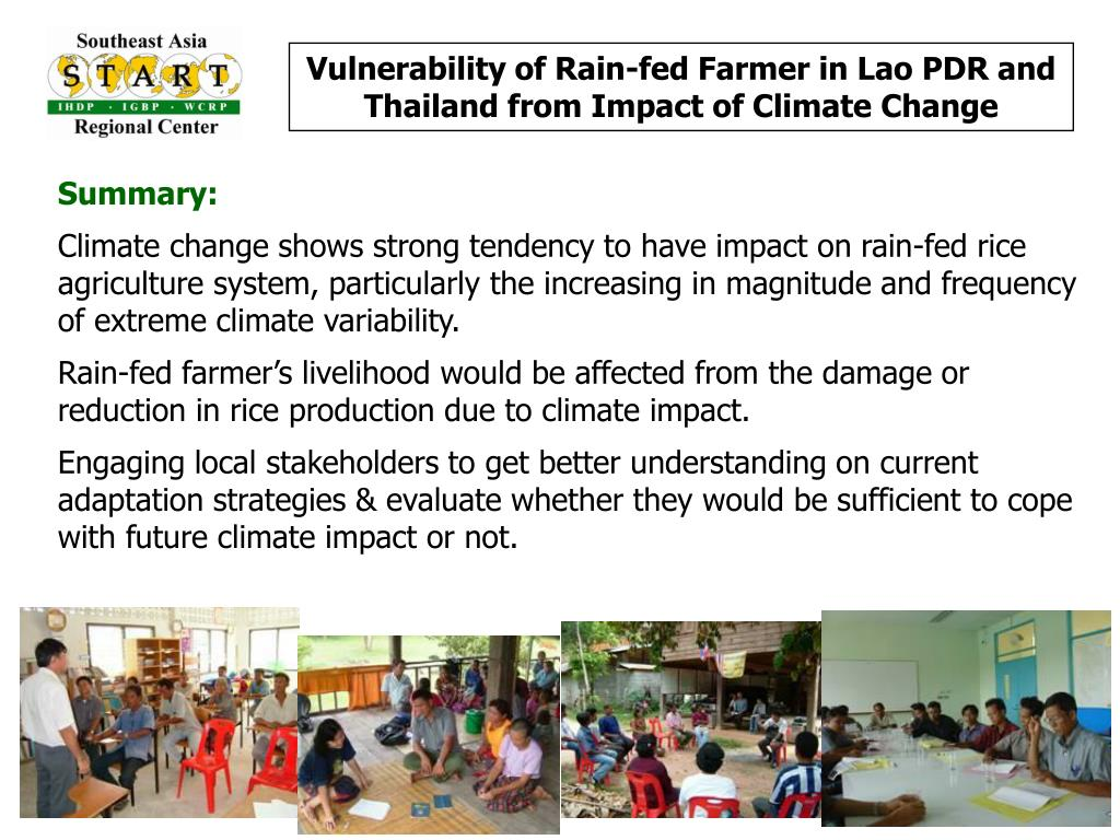 Vulnerability of Rain-fed Farmer in Lao PDR and Thailand from