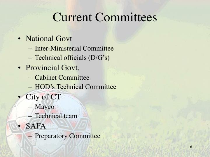 Current Committees
