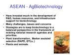 asean agbiotechnology