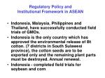 regulatory policy and institutional framework in asean