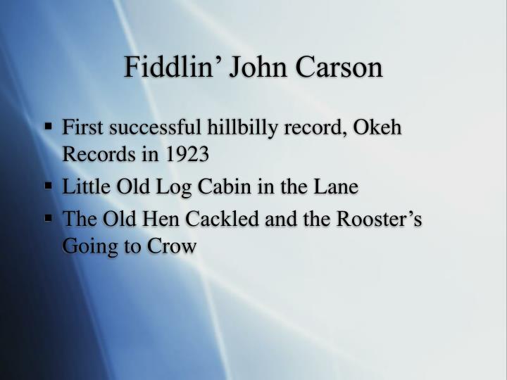 Fiddlin john carson