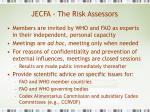 jecfa the risk assessors