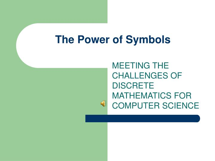 Ppt The Power Of Symbols Powerpoint Presentation Id616726