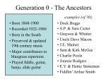 generation 0 the ancestors