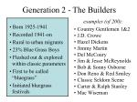 generation 2 the builders