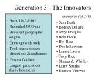 generation 3 the innovators