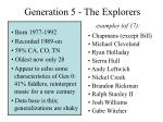 generation 5 the explorers