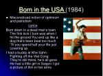 born in the usa 1984