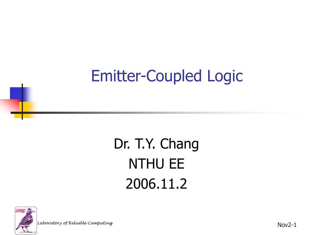 emitter coupled logic l.