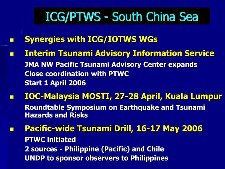 ICG/PTWS - South China Sea