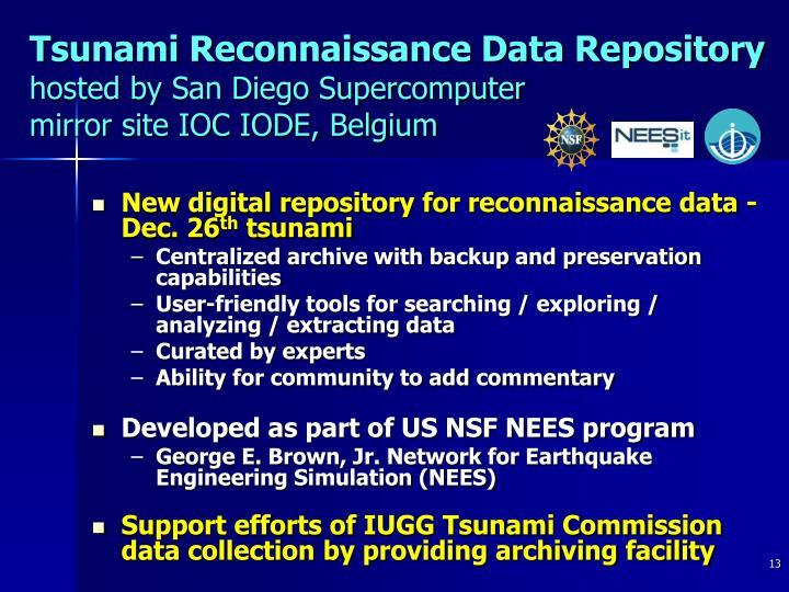 Tsunami Reconnaissance Data Repository