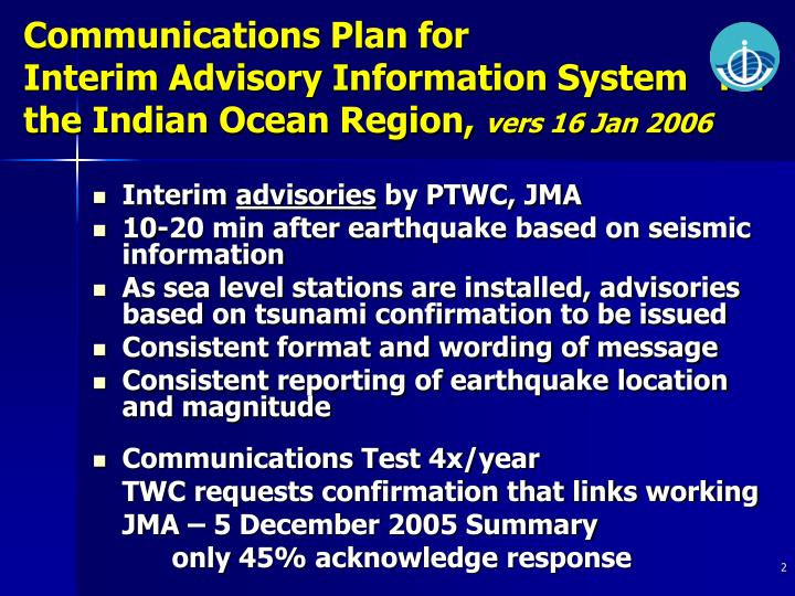 Communications Plan for