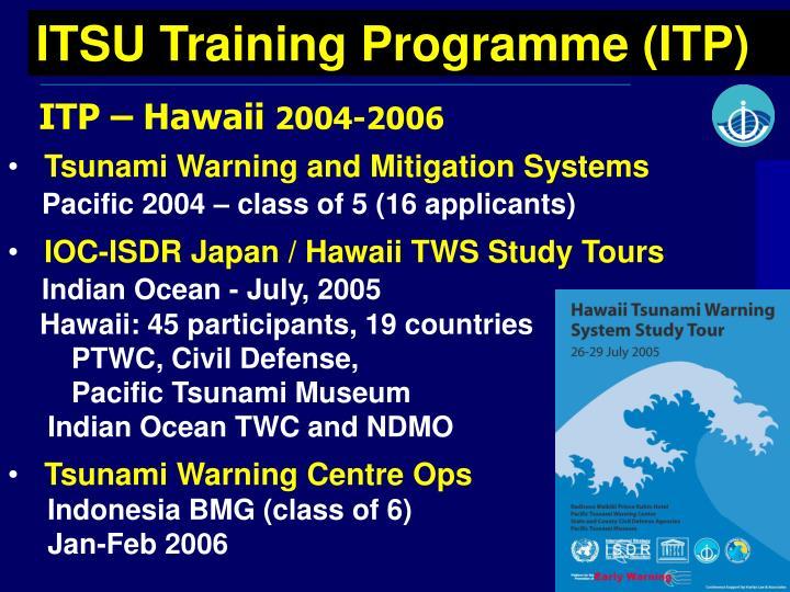 ITSU Training Programme (ITP)