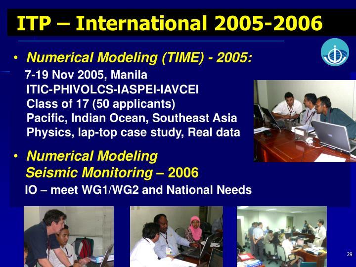 ITP – International 2005-2006