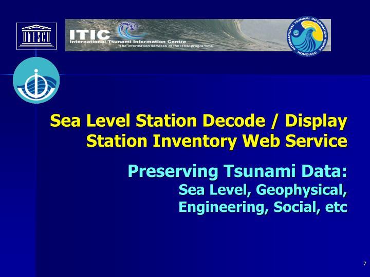 Sea Level Station Decode / Display