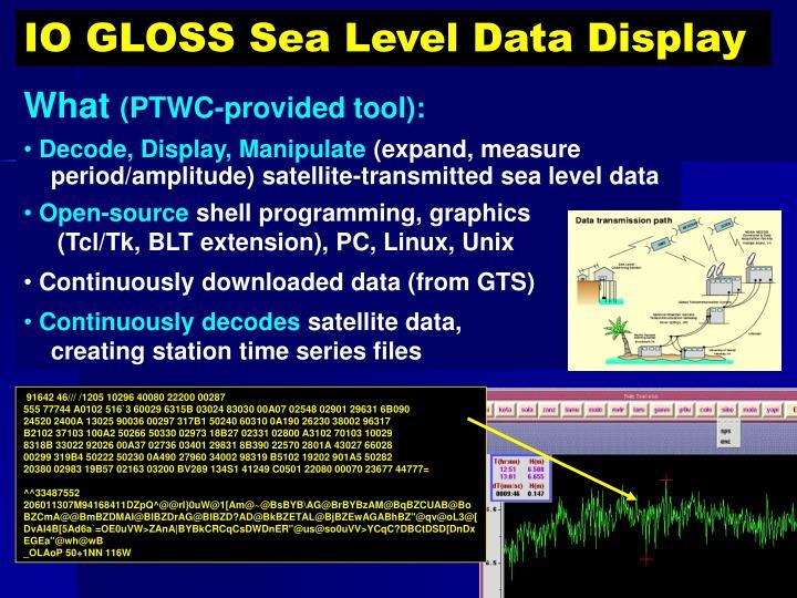 IO GLOSS Sea Level Data Display