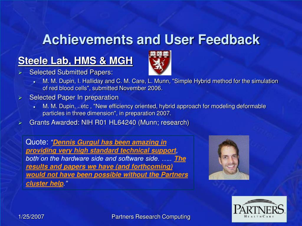 Achievements and User Feedback