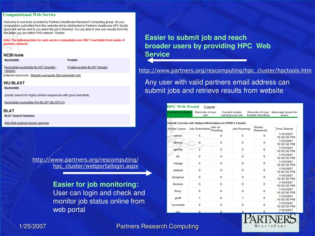 Easier to submit job and reach broader users by providing HPC  Web Service