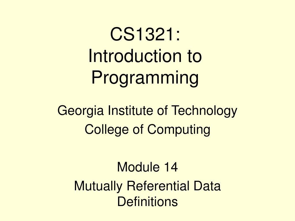 CS1321: