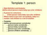 template 1 person