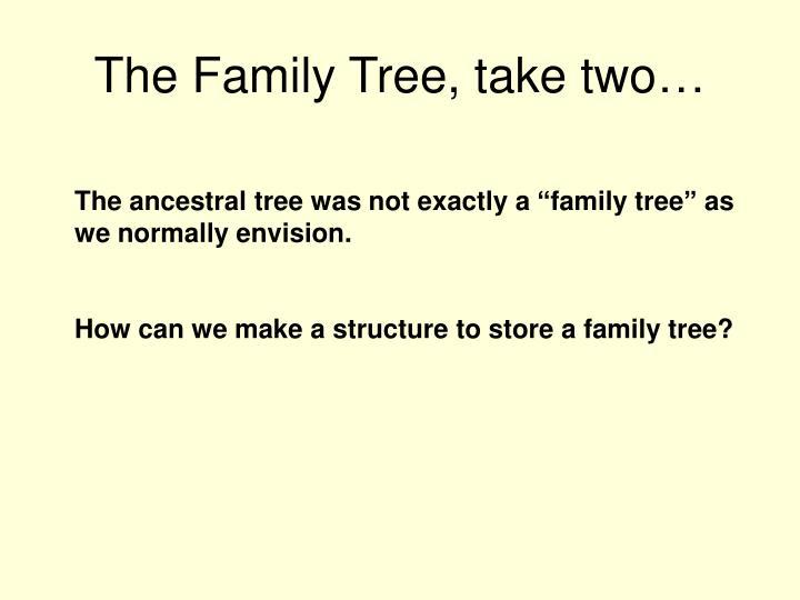 The family tree take two