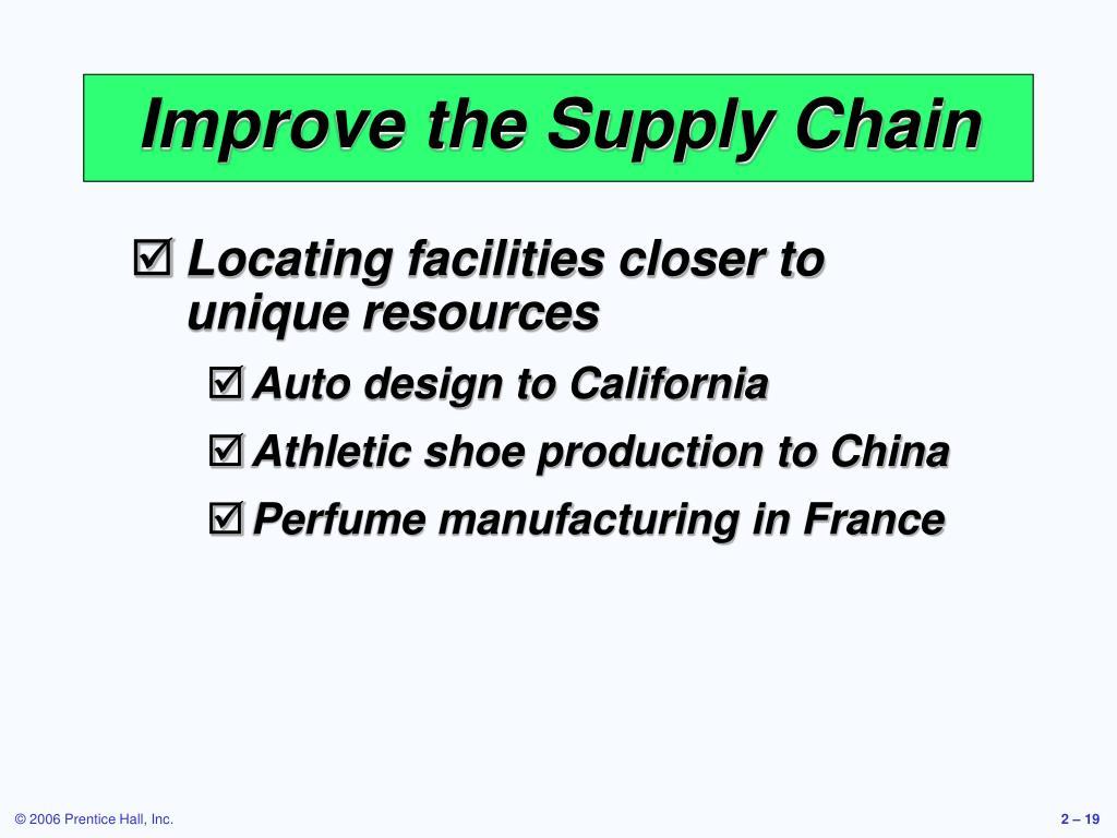 Improve the Supply Chain
