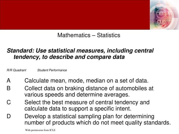Mathematics – Statistics