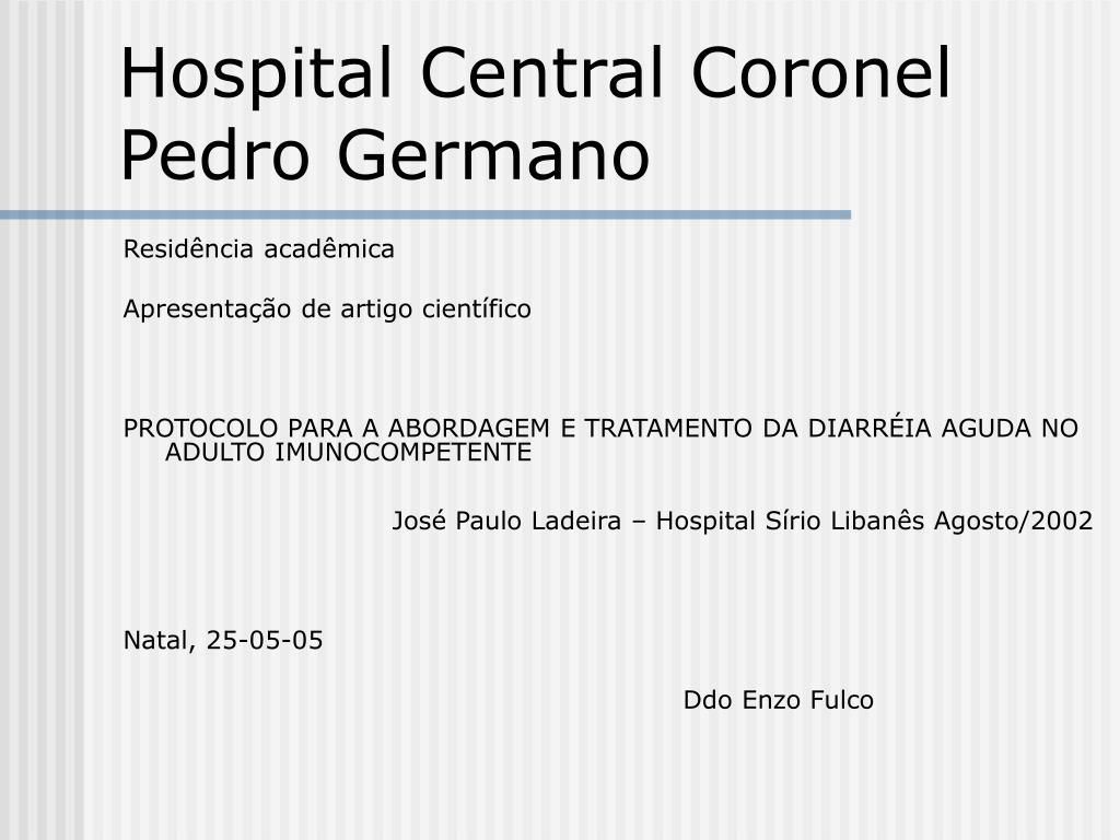 Hospital Central Coronel Pedro Germano