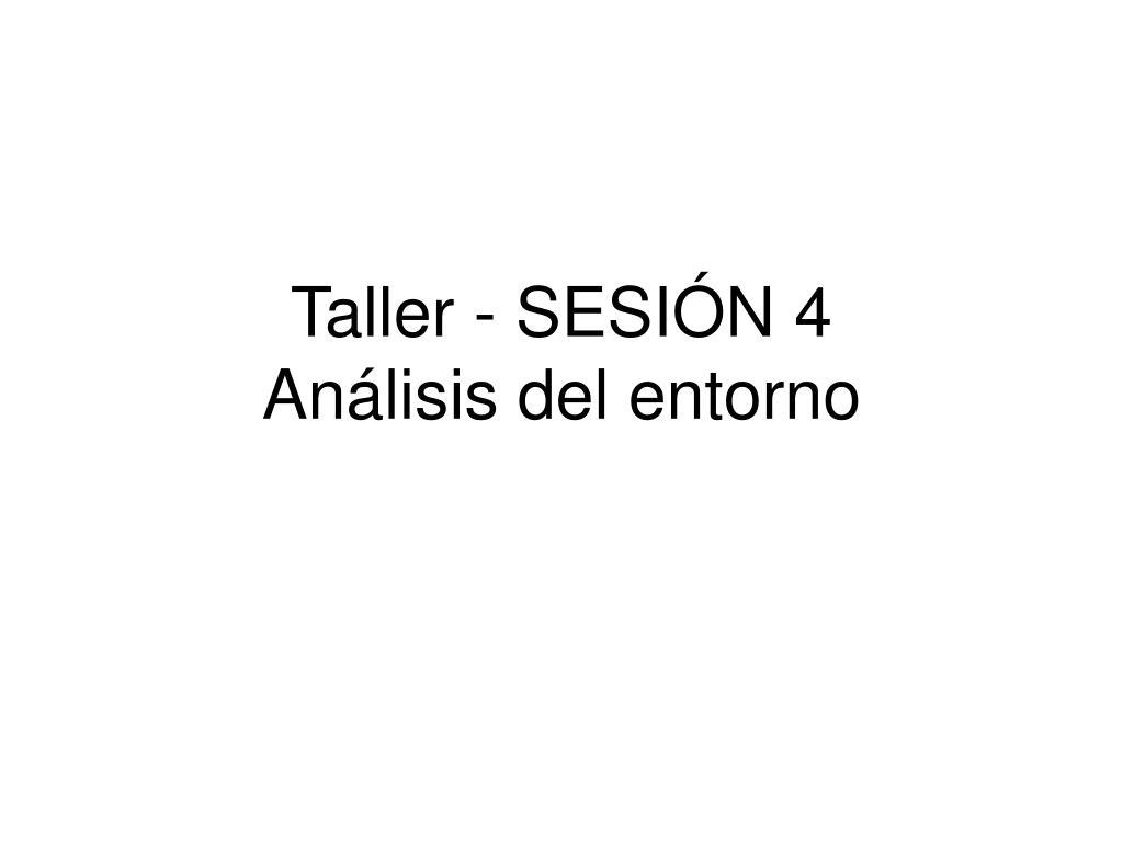 Taller - SESIÓN 4
