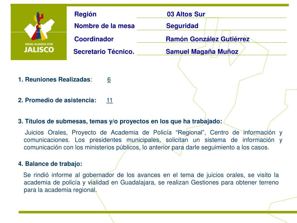 Región                                      03 Altos Sur