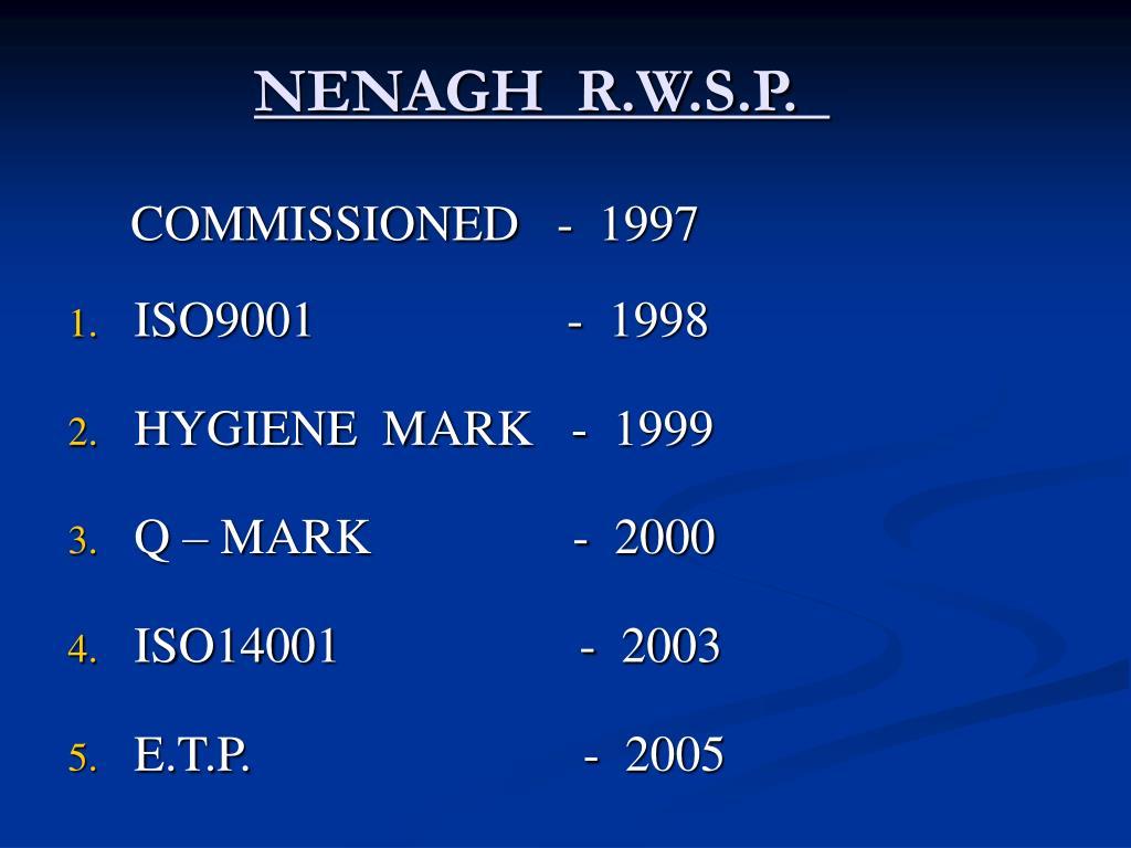 NENAGH  R.W.S.P.