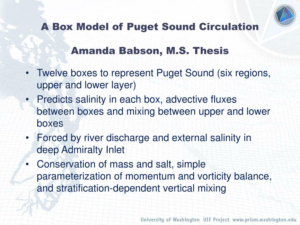 A Box Model of Puget Sound Circulation