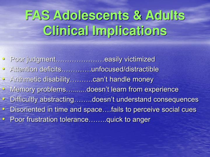 FAS Adolescents & Adults