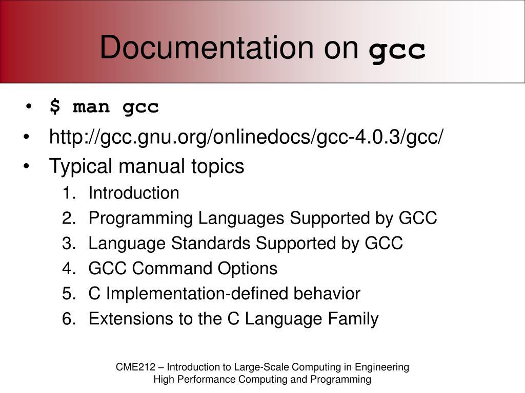 Documentation on