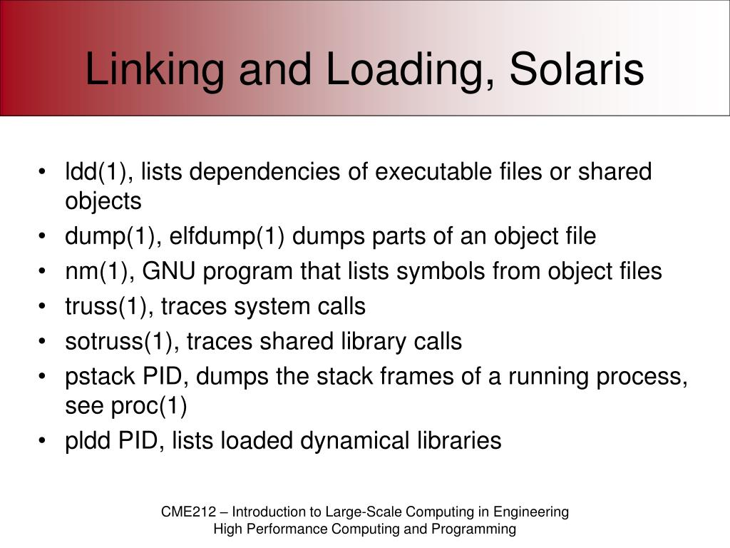 Linking and Loading, Solaris