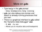 more on gdb